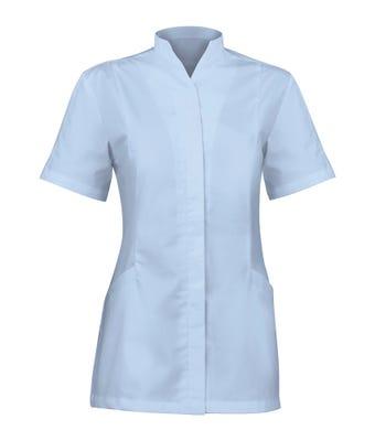 Womens Button Tunic Pale Blue
