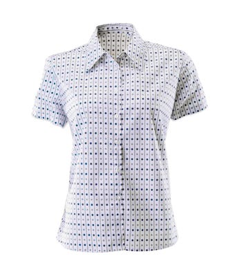 Women's domino print blouse