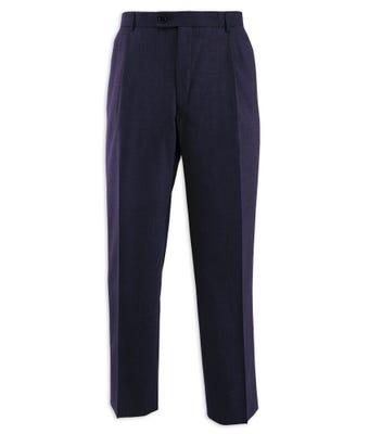 Men's Single Pleat Trousers Navy