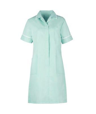 Nurses Dress Aqua/White