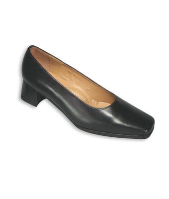 Women's court shoe black