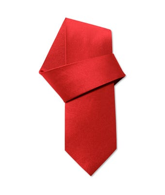 Clip-on tie red