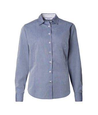 Womens chambray roll up sleeve shirt