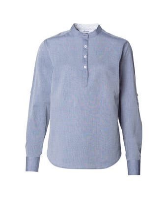 Mens chambray stand up collar