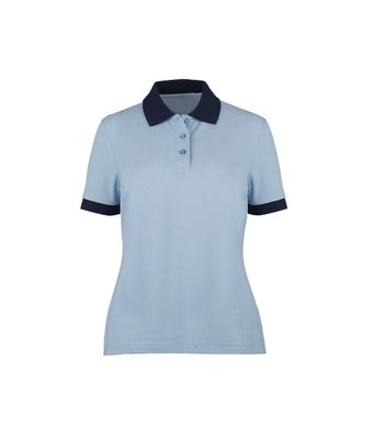 Women's two colour poloshirt