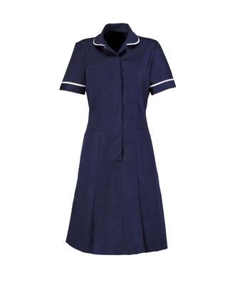 Dress Nurses S Navy/Wh W/Supp. Living Logo