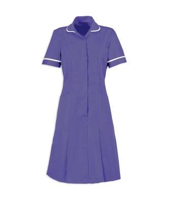 Dress Nurses Purple/White