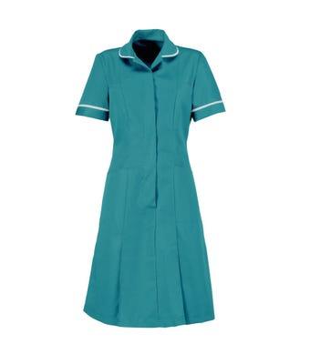 Nurses Dress Turquoise/White