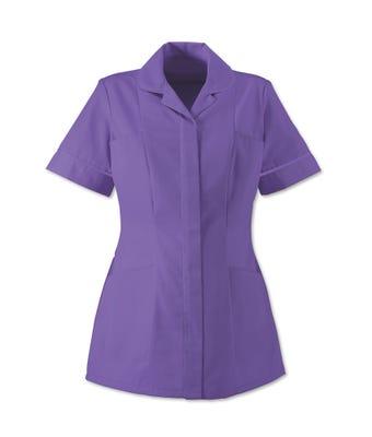 Women's S/S Tunic Purple/White