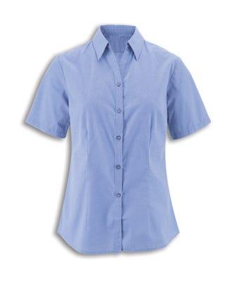 Women's S/S Blouse Pale Blue