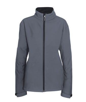 Women's Softshell Jacket Grey W/ Logo
