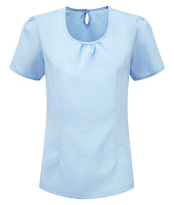 Round Neck Blouse Pale Blue W/ Group Logo
