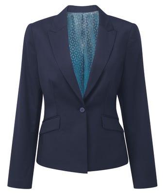Bloor Cadenza Women's One Button Jacket - Navy