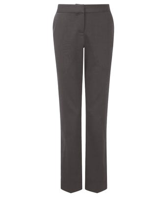 Women's Slim Fit Trousers - Charcoal