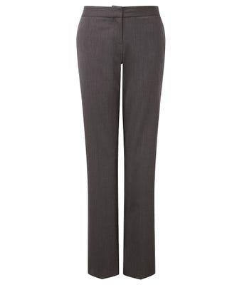 Women's Straight Leg Trousers - Charcoal