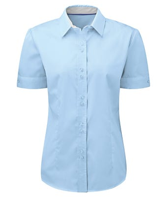 Women's short sleeve 100% cotton shirt