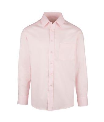 Men's S/S Double Cuff Shirt Pink W/ Logo