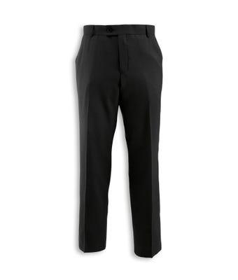 Men's Flat Front Trousers Black