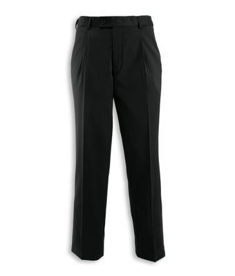 Icona men's Single Pleat Trousers Black