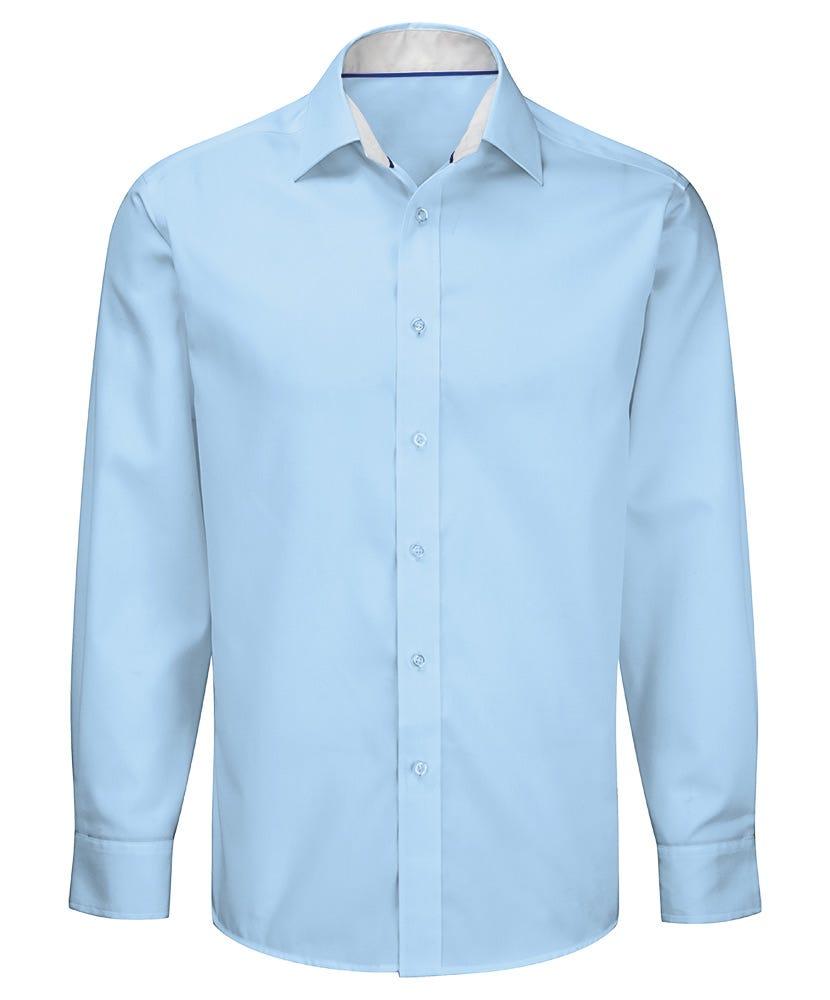 Men 39 s long sleeve 100 cotton shirt workwear alexandra for 100 cotton dress shirt