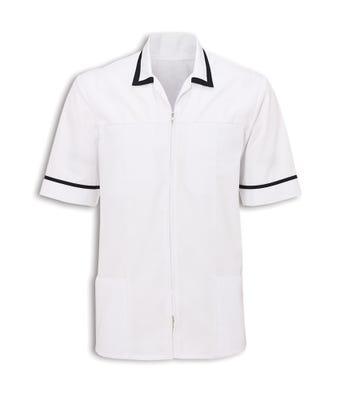 Men's zip front tunic