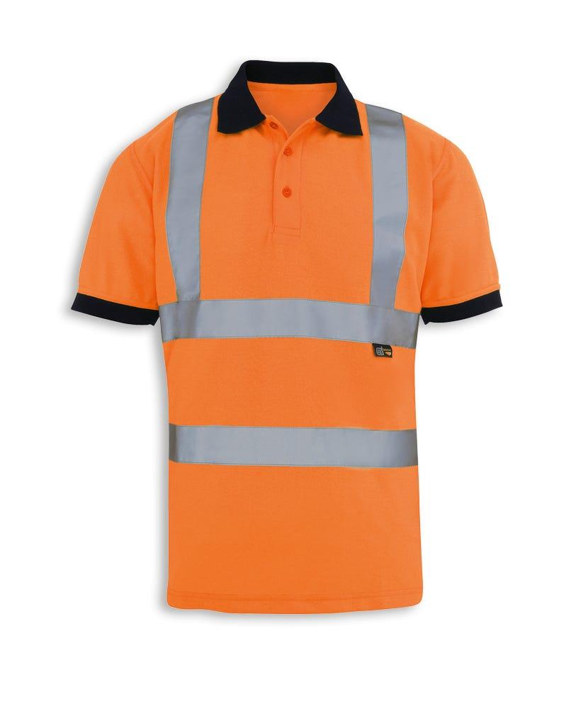 Hi vis polo shirt workwear alexandra for Hi vis polo shirts with pocket