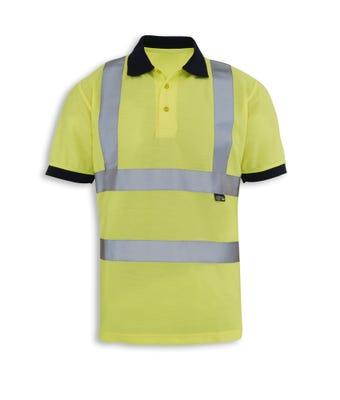Hv Polo Shirt Yellow W/ Logo