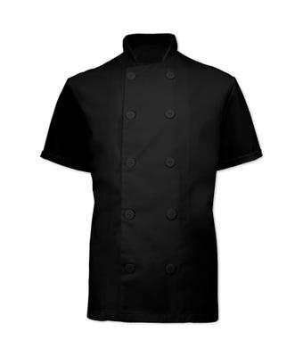 B&D Unisex Chefs Jacket Black