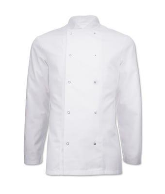 Essentials L/S Chef Jacket White W/Logo