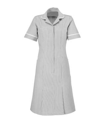 S/S Dress Pale Grey/White