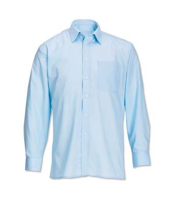 Men's L/S Shirt Pale Blue W/ Logo