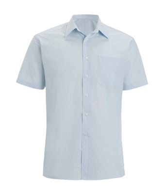 Men's S/S Shirt Pale Blue W/ Logo