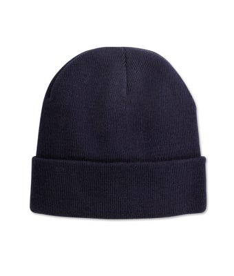 Knitted Hat Navy W/Logo