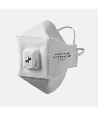 FFP3 Valved Fold Flat Mask FP21     1 = 40 Masks