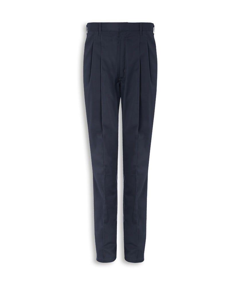 Mens Pleat Front Trousers Workwear Alexandra