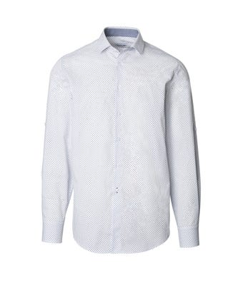 Mens geometric print roll up sleeve shirt