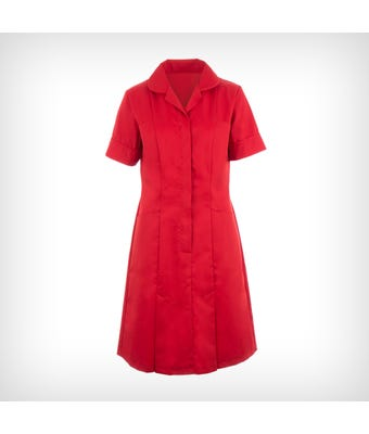 Classic Collar Dress - Red