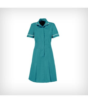 Classic Collar Dress - Turquoise