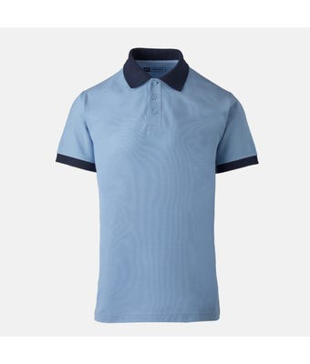 Unisex Polo Shirt With Contast Collar & Cuff