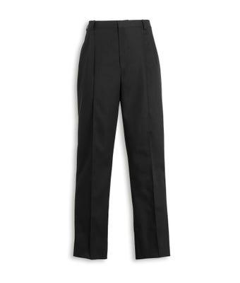 Male Twin Pleat Healthcare Trousers Black MT6000020