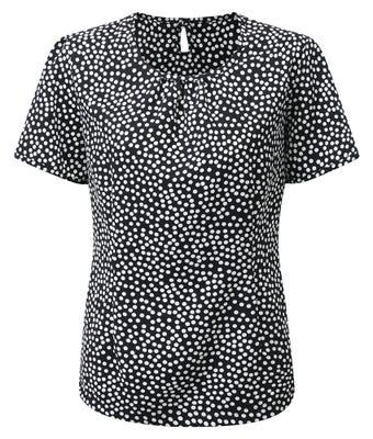 Women's round neck print blouse