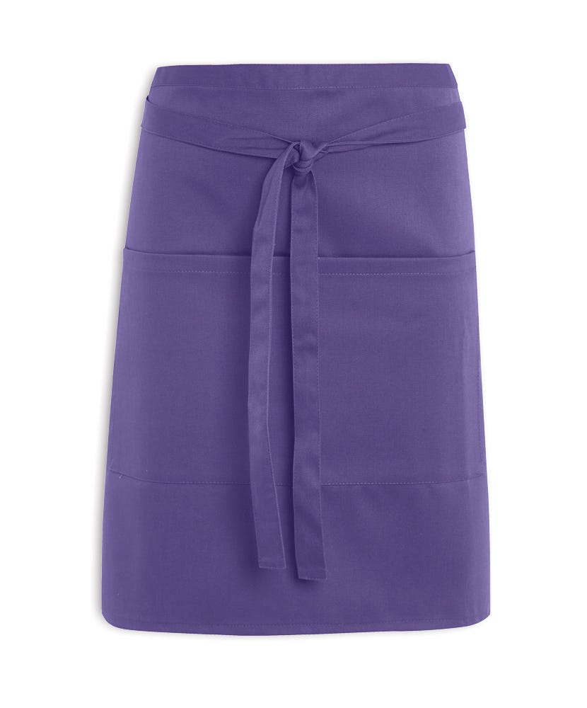 White apron catering menu - Short Waist Apron With Pocket