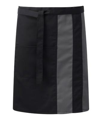 Contrast waist apron with pocket
