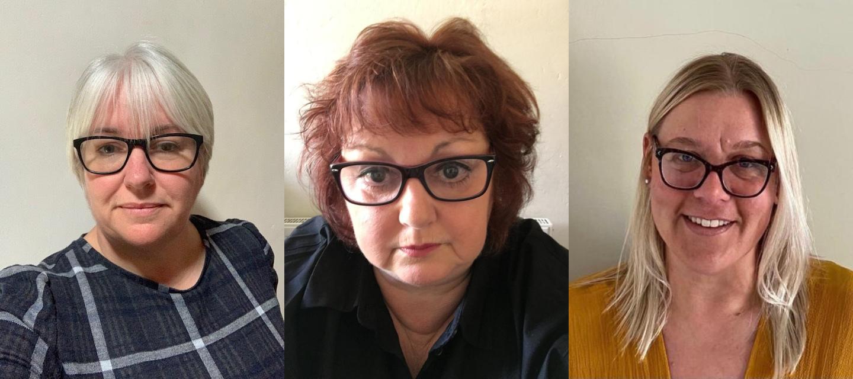 From L to R: Diane Buckley, Sandie Morris, Eve Jenkins