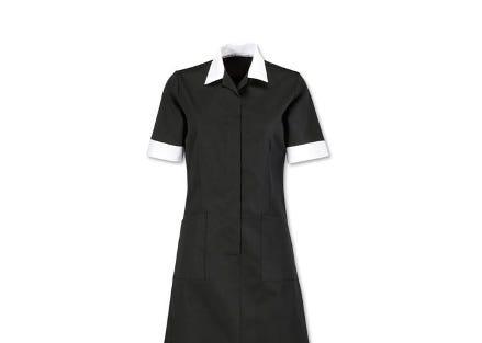 Open neck contrast dress