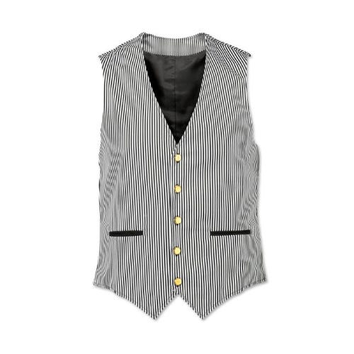 Men's striped waistcoat
