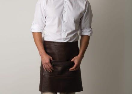 Faux Leather Waist Apron