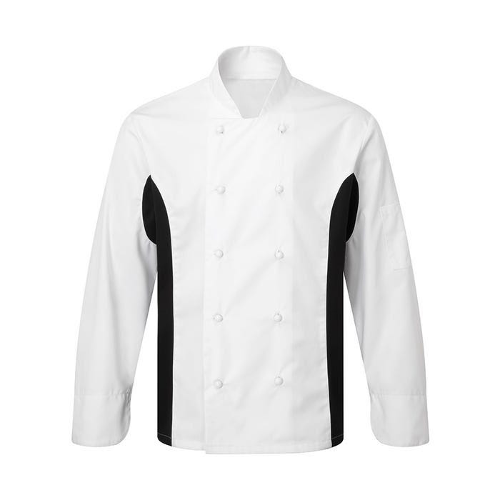 Wicking contrast panel chef's jacket