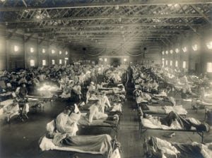 A hospital during the Spanish Flu pandemic
