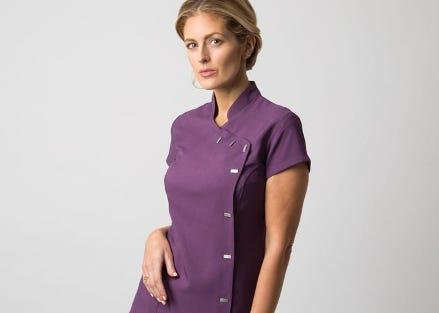 Alexandra asymmetrical button tunic